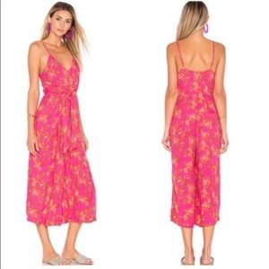 Free People Pink Hot Tropics Floral Jumpsuit